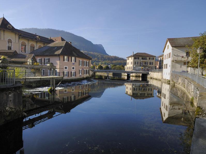 Plan De La Ville D Orbe En Suisse