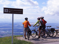 Bicycle through Jura