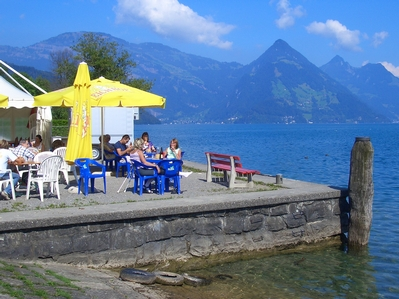 Buochs lakeside restaurant and Vitznauerstock