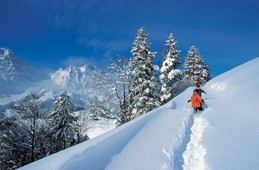 Winter hiking in Engelberg - Brunni
