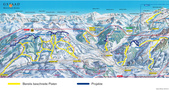 ski slopes with artificial snow