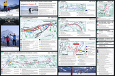 Detailed cross-country skiing map