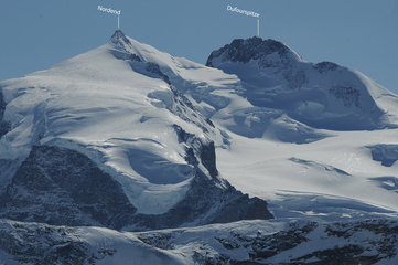 Nordend und Dufourspitze  Willy Taugwalder