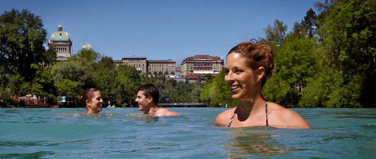 Aare swimming