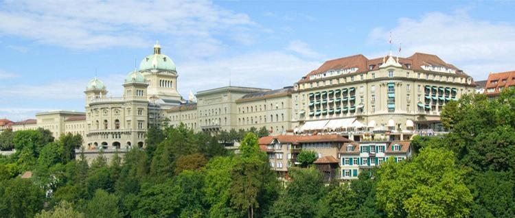 Bellevue Palace, das pulsierenden Gästehaus der Schweizer Regierung und einzigen Grand Hotel der Stadt.