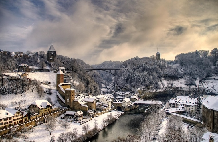 Fribourg in winter