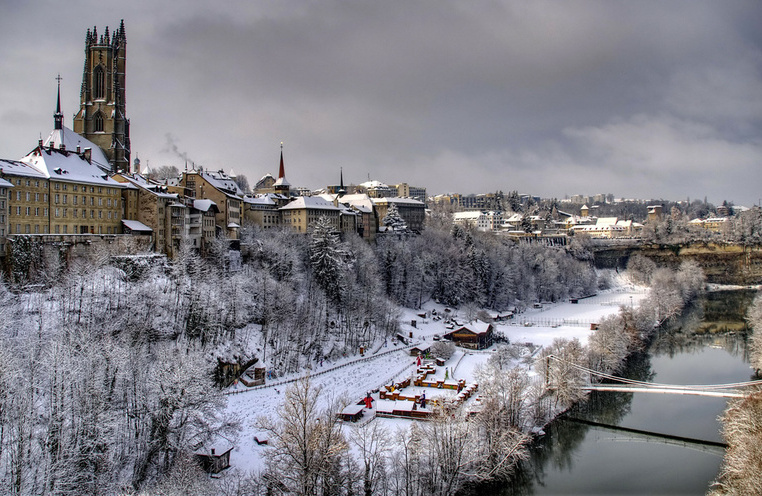 Fribourg under the snow