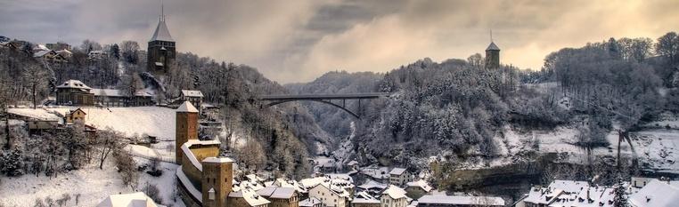 Fribourg sous la neige