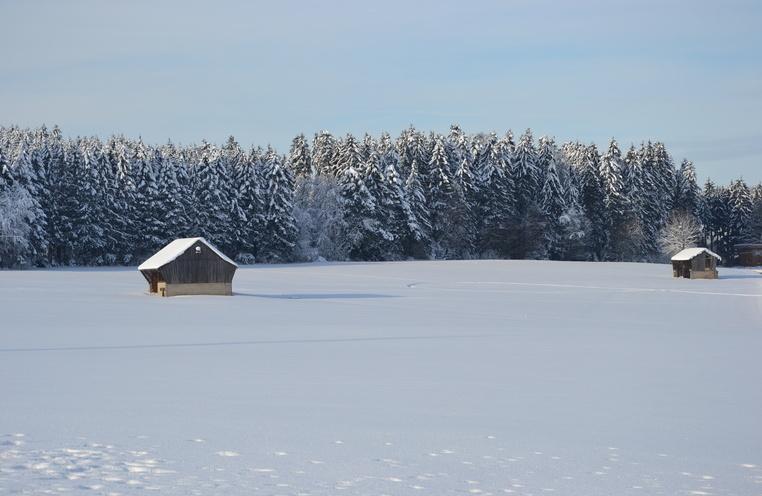 La Glâne sous la neige