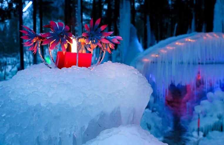 Magie de glace et lumière