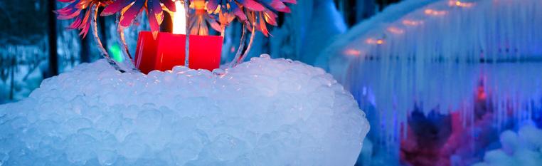 Märchenwelt aus Eis und Licht