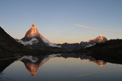 Riffelsee mit Matterhorn am Morgen