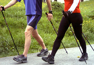 Nordic walking, running