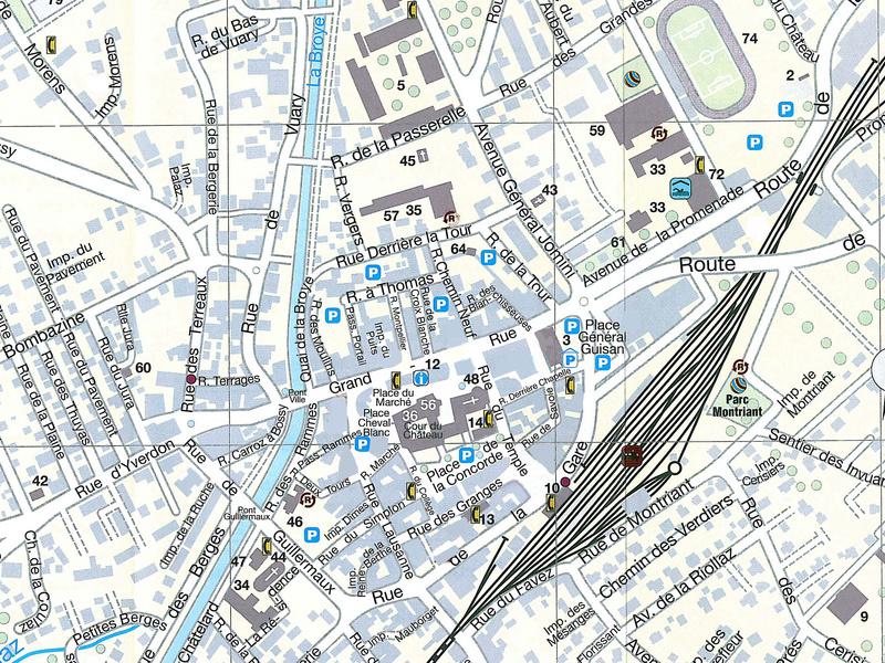 Пайерн - карта города