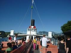 Dampfschiff mit Rigi Kulm