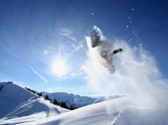 Snowboarder im Hoch-Ybrig