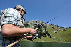 Fishing at Stockhorn