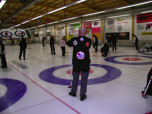 Curling ice rink
