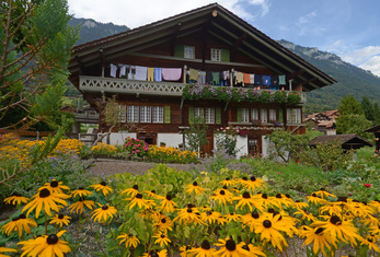 Ringgenberg - Goldswil - Niederried - Typical regional chalet villages at the shores of Lake Brienz