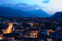Interlaken en nuit