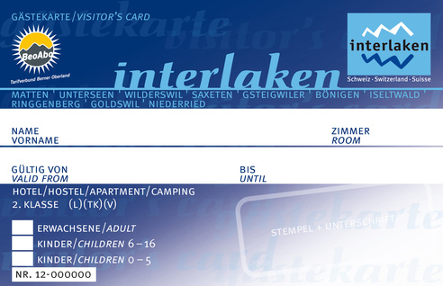 Guest Card Interlaken