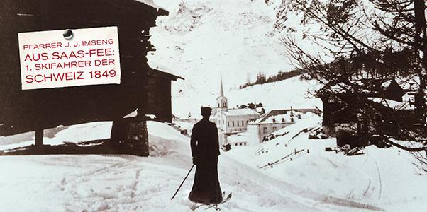 1. Skifahrer der Schweiz aus Saas-Fee