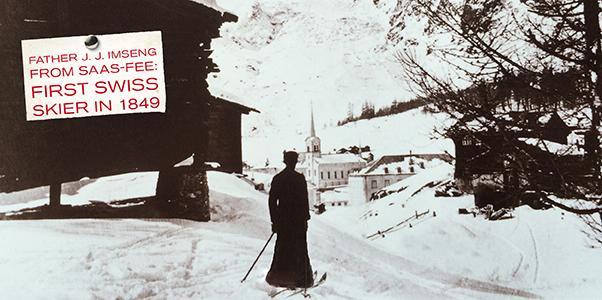 First skier in Switzerland