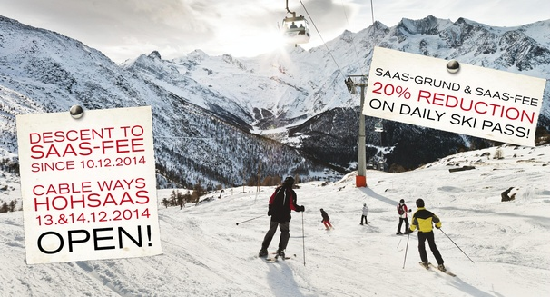 Descent to Saas-Fee open!