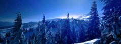 Nächtliche Winterlandschaft © iStock.com/bluagentur