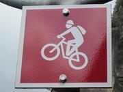 Signalisation «Bikeweg» © Uri Tourismus AG