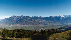 View looking from Switzerland towards Liechtenstein