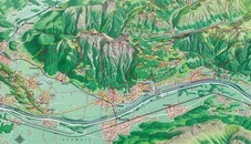 Panorama map LIechtenstein