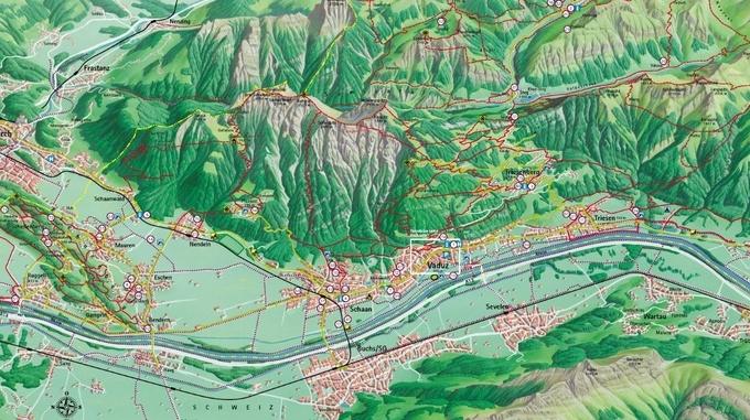 Panorama map LIechtenstein