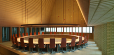 Der Landtagssaal in Vaduz