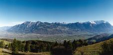 Blick auf Liechtenstein von der Schweiz aus