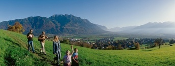 Blick auf Liechtenstein vom Eschnerberg