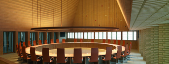 Plenary chamber in Vaduz