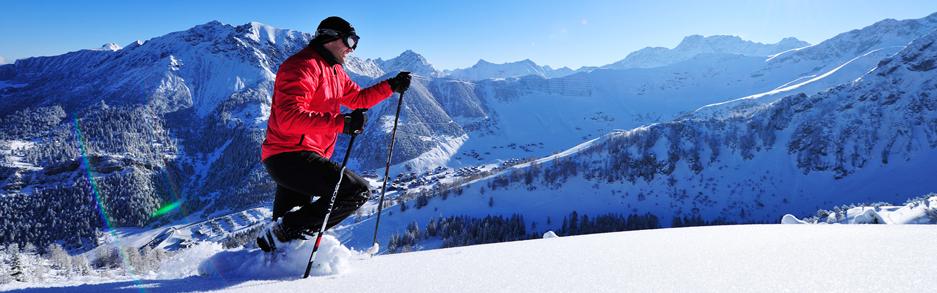 Schneeschuhwanderer in Malbun
