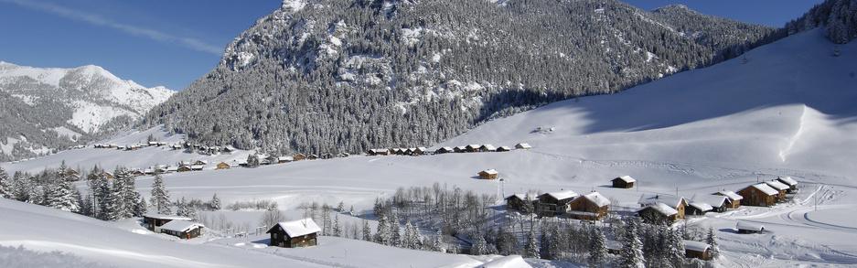 Steg Winterlandschaft