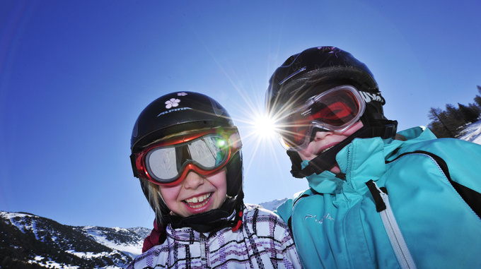 Kinder im Winter, Malbun