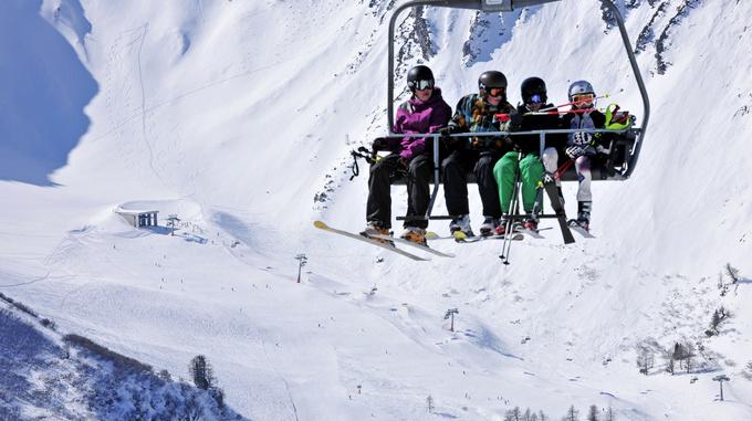 Skiing In Malbun Liechtenstein