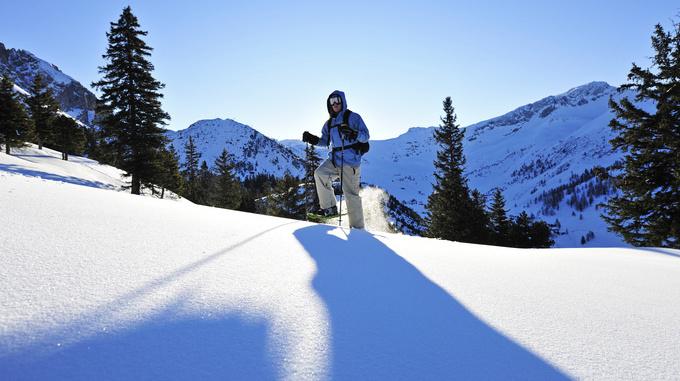 Schneeschuhwanderer Malbun