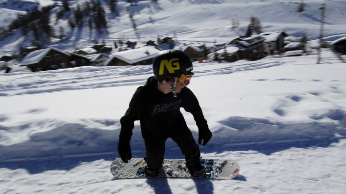 Snowboarden Malbun