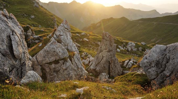 Sonnenaufgang Berge Liechtenstein