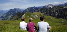 Aussicht auf liechtensteinische Bergwelt