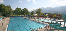 The swimming pool in Mühleholz between Vaduz and Schaan