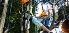 The high-rope adventure park in Forst, near Triesen