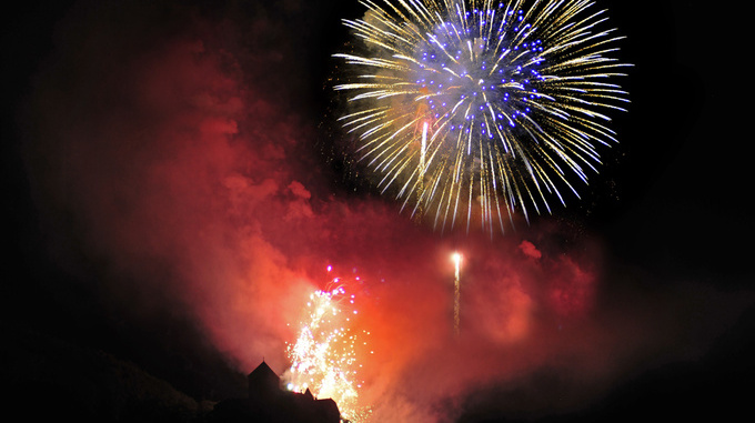 Schloss Vaduz Staatsfeiertag