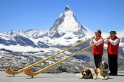 Alphorn duo on the Gornergrat