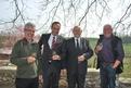 MM. F.Margot, A.Fricker, A.Banderet et M.Hostettler hôte du jour, Manoir de Valèyre sous Rances